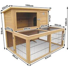 $147 Deluxe 2 Storey Rabbit Hutch Cage with Under-Run | Buy Small Animal Supplies                                                                                                                                                      More