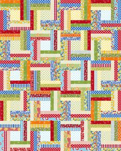 I always liked this simple pattern by Jaybird Quilts. Pattern available here: http://www.jaybirdquilts.com/2011/03/off-rail.html