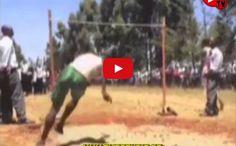 Una demostración de salto de altura, el último participante le dicen el hombre canguro - TVEstudio