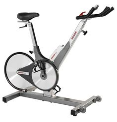 """M3 Indoor Cycle - Keiser.com  Kaiser M3: My hands-down favorite spin bike. Try it: 30-minute workout. Make a """"pump-up"""" playlist. As the songs play, alternate between hill climbs (gears 14 and above, never dropping to less than 50 rpm) and sprints (gear 10-14, 110-120 rpm). Aim to travel at least 12 miles in 30 min. Get sweaty."""