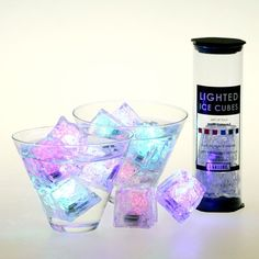 Light up ice cubes.