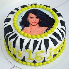 Katy Perry cake  OMG- simple looking but oh my! I want one now...