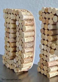 Wine Cork Monogram Craft