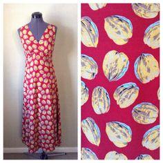 Vintage 90s red Esprit walnut print dress / by CrystalsCloset74