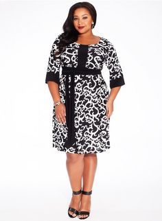 #plussize #blackwhite #dress at Curvalicious Clothes #bbw #curvy #fullfigured #plussize #thick #beautiful #fashionista #style #fashion #shop #online www.curvaliciousclothes.com TAKE 15% OFF Use code: TAKE15 at checkout