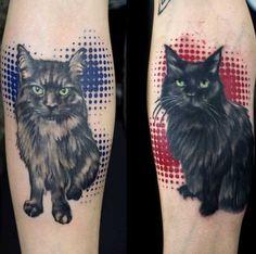 w/ dif. backgrounds, plz....Amazing Black Cat Tattoos