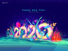 Happy New Year 2020 by Designs Raw on Dribbble Happy New Year Gif, Happy New Year Design, Happy New Year Quotes, Happy New Year Greetings, New Year Illustration, City Illustration, My Little Pony Princess, Baby Images, Couple Wallpaper