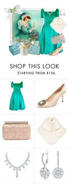 """Gifts of Love."" by lexuslady ❤ liked on Polyvore featuring Michael Novarese, Manolo Blahnik, Oscar de la Renta and Helen Moore"
