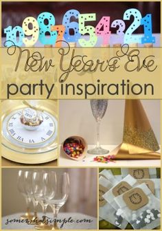 Gold New Year's Eve party