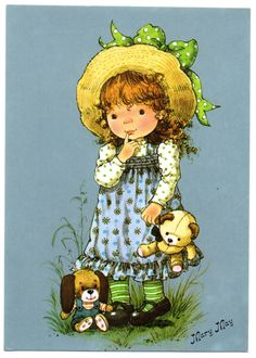 Soloillustratori: Mary May Holly Hobbie, Vintage Cards, Vintage Postcards, Vintage Pictures, Cute Pictures, Mary May, Vintage Drawing, Art Clipart, Cute Dolls