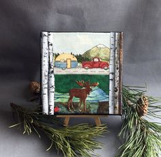 Ooak 3D Camping wall arthandmade recycled by Lovepaperscissors14
