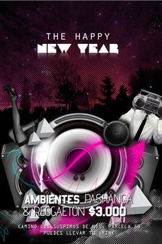Night Club Flyer – The Happy New Year  45 lines