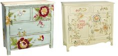 Painted and Decorated Chest of drawers.
