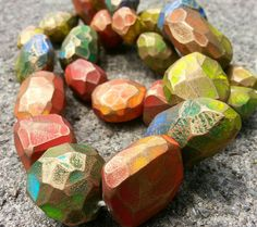 Artybecca: Faceted Faux Gems, or Wilma Flintstone's Fancy Jewelry tutorial