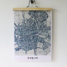 Dublin Map Poster print by OwlStreets on Etsy Dublin Map, Maps, Poster Prints, Owl, Visual Arts, Street, Handmade Gifts, Etsy, Vintage
