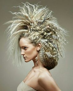 Mohawk updo this is my inspiration and final idea to be slightly softer on my model