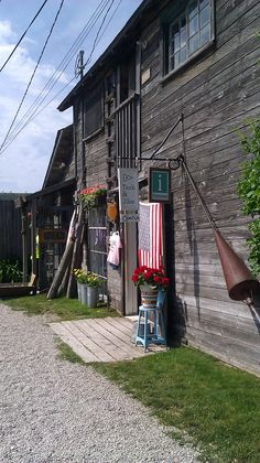"""Fishtown"" shanties ....shops -- Leland, MI"