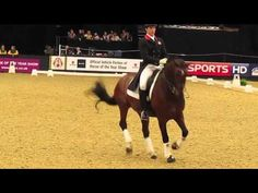Charlie Hutton won the top class at the NAF Five Star national winter dressage championships held at Hartpury College in front of a packed crowd with this first freestyle. Here we see him preform it for comments by 3-time member of the British Olympic team, Richard Davison.