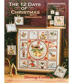 The 12 Days Of Christmas With Ornaments Counted X-Stitch Kit