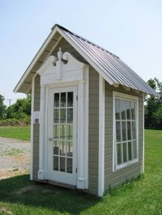 Love outdoor sheds made out of recycled materials