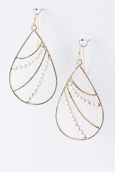 {Beaded Metal Droplet Trendy Earrings}