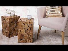 Stolik kawowy - drewniany - do pokoju - ława kawowa - stół - NELSON