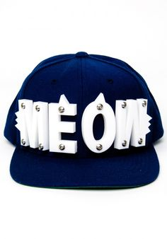 adeen meow white snapback Snap Backs e0d4863931a