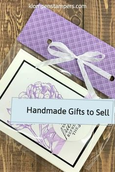 Looking for craft fair items to sell or love selling your crafts online or through stores? These handmade note cards can be made quickly and packaged to sell. I've got all the card details and a card making video for you to follow along with. Get started at www.klompenstampers.com Simply Stamps, Craft Online, Card Making Tutorials, Learning Tools, Craft Fairs, Note Cards, I Card, Cardmaking, Great Gifts