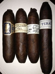 My Drew Estate Flying Pigs Collection Undercrown Flying Pig Liga Privada T52 Flying Pig Liga Privada No. 9 Flying Pig Liga Privada Feral Flying Pig ----These I would carry around un lit for a while to enjoy the taste and soften the twist. Then a little nip like when I bite sewing thread, yes I sew, is all it takes. No cutter, no waste and a bit of chaw to enjoy.