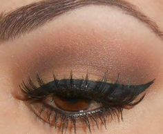 simple and beautiful make up for brown eyes