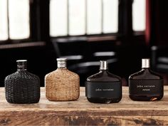 John Varvatos fragrance line up. in person, the wicker is wrapped beautifully. Perfume And Cologne, Best Perfume, Men's Cologne, Whiskey Bottle, Vodka Bottle, E Cosmetics, Mens Fall, John Varvatos, Men's Grooming