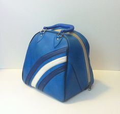 Vintage Bowling Ball Bag Ideal Retro Case Gym Bag Tote Large Unique Purse Carrying Case Men's Overnight Makeup Bag Carry On Luggage $18