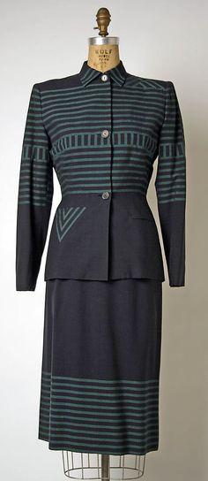 Suit, ca. 1949, Gilbert Adrian (American, 1903–59)
