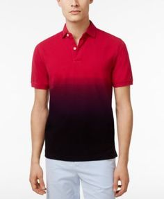 TOMMY HILFIGER Tommy Hilfiger Men'S Frasier Custom-Fit Ombré Polo. #tommyhilfiger #cloth # polos
