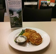 Dill Sauce, The Bistro, Salmon Patties, Fresh Dill, October 15, Mashed Sweet Potatoes, Asparagus, Leo, Good Food