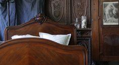 アンティークベッド フランス ルイ15世様式ロココ ダブルベッド ローズウッド