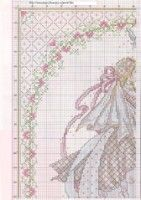Gallery.ru / Фото #28 - Cross Stitch Collection 171 - Tatiananik Cross Stitch Samplers, Cross Stitching, Wedding Cross Stitch Patterns, Cross Stitch Angels, Cross Stitch Collection, Just Married, Love And Marriage, Free Pattern, Projects To Try