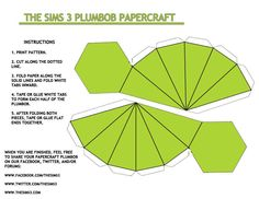 Sims plumbob I made one of these and made it part of my office decor :-)