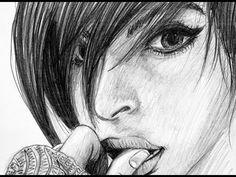 Video von Bleistift-Zeichnung einer Frau