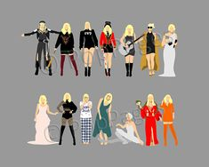 The old Taylor cant come to the phone right now… Why? Because shes on this hi-res minimalist print featuring all 14 personalities lined up in front of the plane at the end of the Look What You Made Me Do music video, including: - Biker Taylor (LWYMMD) - Bank Robber/Blind for Love Taylor