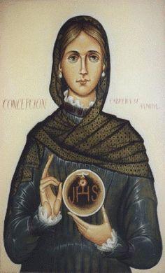 Escritos de Concepcion Cabrera de ArmidaIcono por Claude O.S.B., Mount Angel Abbey, OR....pinned by www.limondulce.com