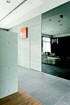 施作菊水仿清水模工法,一定要留意壁面的平整性,避免製造出來的效果不佳。