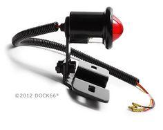 Nummernschildhalter Chopper Bobber LED-Rücklicht schwarz OLD SCHOOL TYP4