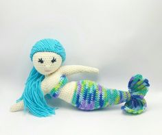 Mermaid Doll   Mermaid Amigurumi   Handmade Mermaid Doll   Crocheted Mermaid Doll   Stuffed Mermaid Toy   Ready to Ship - pinned by pin4etsy.com