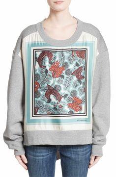 Main Image - Burberry Mente Graphic High/Low Sweatshirt