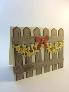 Created by Beth McCullough at StampingMom.com, Wonderous Wreath Garland, fence card, turn the wreath into a swag