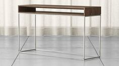 Frame Console Table Walnut/stainless steel 29.75h x 51.25w x 15.75d $599