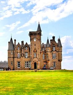 Glengorm castle on the Isle of Mull, Scotland
