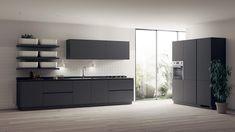 einrichtung küche schwarz grifflose schränke qi scavolini #kitchen #modern #ideas