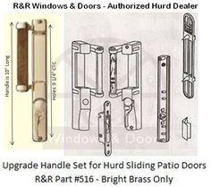 Hurd Sliding Patio Door Stadard Oak Handle Set 1993 - 2006 | Door ...